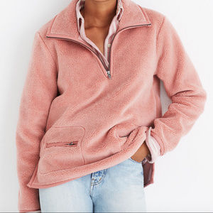 Madewell Plushy Fleece Pullover Zooey NWT SZ XS